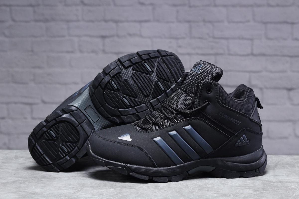 Зимние мужские кроссовки 31424, Adidas Climaproof (мех), черные, [ нет в наличии ] р. 41-26,3см.