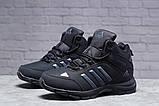 Зимние мужские кроссовки 31424, Adidas Climaproof (мех), черные, [ нет в наличии ] р. 41-26,3см., фото 2