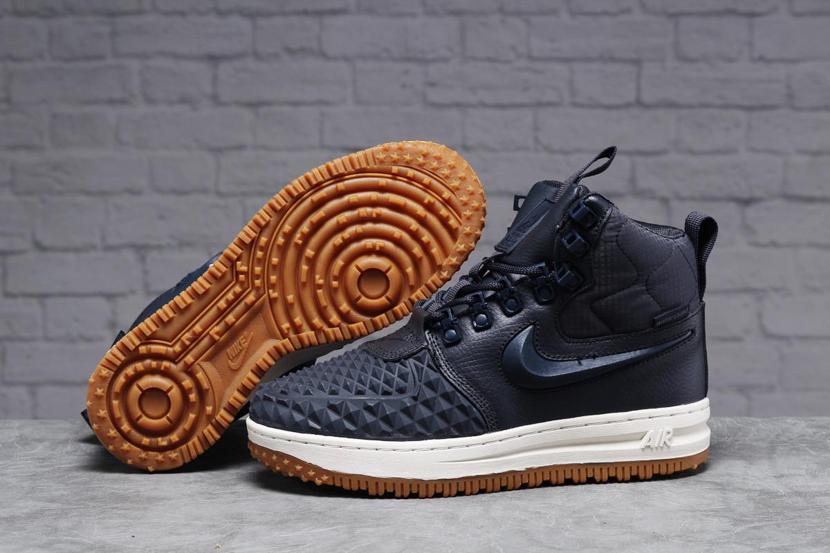 Зимние женские кроссовки 31464, Nike Air AF1 (мех), темно-синие, [ нет в наличии ] р. 38-24,5см.