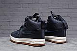Зимние женские кроссовки 31464, Nike Air AF1 (мех), темно-синие, [ нет в наличии ] р. 38-24,5см., фото 3