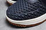 Зимние женские кроссовки 31464, Nike Air AF1 (мех), темно-синие, [ нет в наличии ] р. 38-24,5см., фото 4