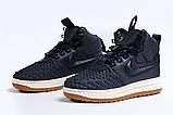 Зимние женские кроссовки 31464, Nike Air AF1 (мех), темно-синие, [ нет в наличии ] р. 38-24,5см., фото 7