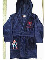 Халат підлітковий Spidermen бавовна синій, фото 1
