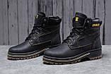 Зимние мужские ботинки 30547, CAT Caterpilar Anti-Glide  (мех), черные, [ нет в наличии ] р. 42-28,0см., фото 2