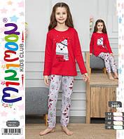 Детские и подростковые пижамы хлопковые для девочек 3460