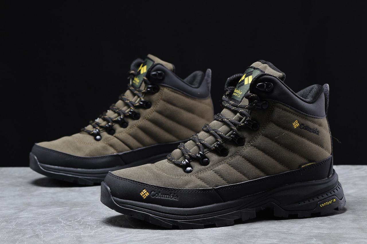 Зимние мужские кроссовки 31773, Columbia Contagrip, зеленые, [ нет в наличии ] р. 41-26,5см.