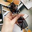 Солнцезащитные очки квадратные прямоугольные женские мужские очки унисекс черные в золотой оправе в стиле 90-х, фото 4