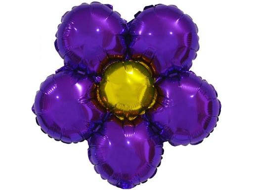 """Фольгированый шарик """"Цветок"""" фиолетовый"""