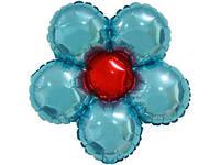 """Фольгированый шарик """"Цветок"""" голубой"""