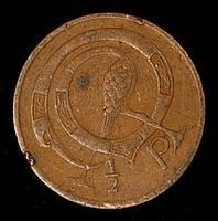 Монета Ирландии 1/2 пенни 1971 г., фото 1