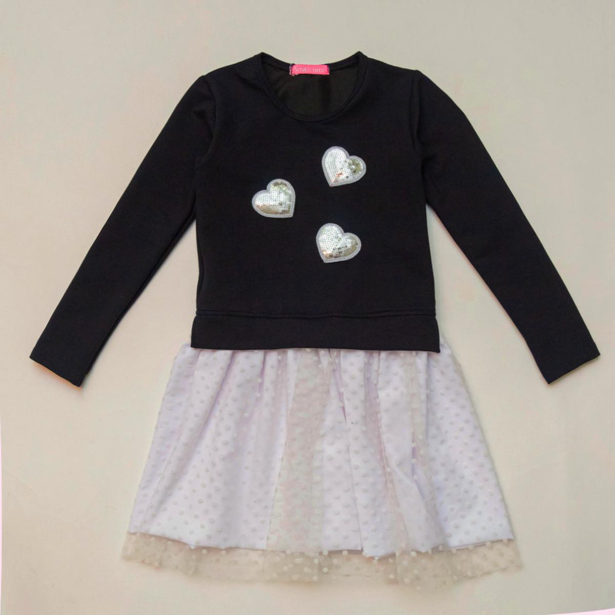 Платье нарядное для девочки р.104,110,116,122 SmileTime Angel, синее с белым