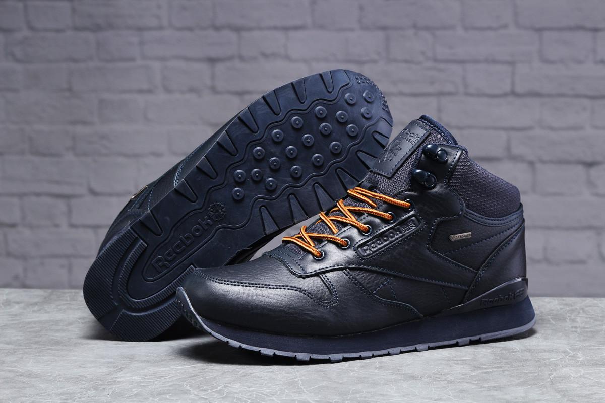Зимние мужские кроссовки 31481, Reebok Classic (мех), темно-синие, [ 44 45 ] р. 42-27,5см.