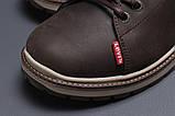 Зимние мужские ботинки 31611, Levi's (мех), коричневые, [ ] р. 43-28,5см., фото 4