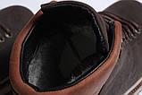 Зимние мужские ботинки 31611, Levi's (мех), коричневые, [ ] р. 43-28,5см., фото 8