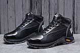 Зимние мужские кроссовки 31672, Puma G-Step, черные, [ 41 42 44 ] р. 40-26,5см., фото 2