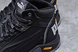 Зимние мужские кроссовки 31672, Puma G-Step, черные, [ 41 42 44 ] р. 40-26,5см., фото 5