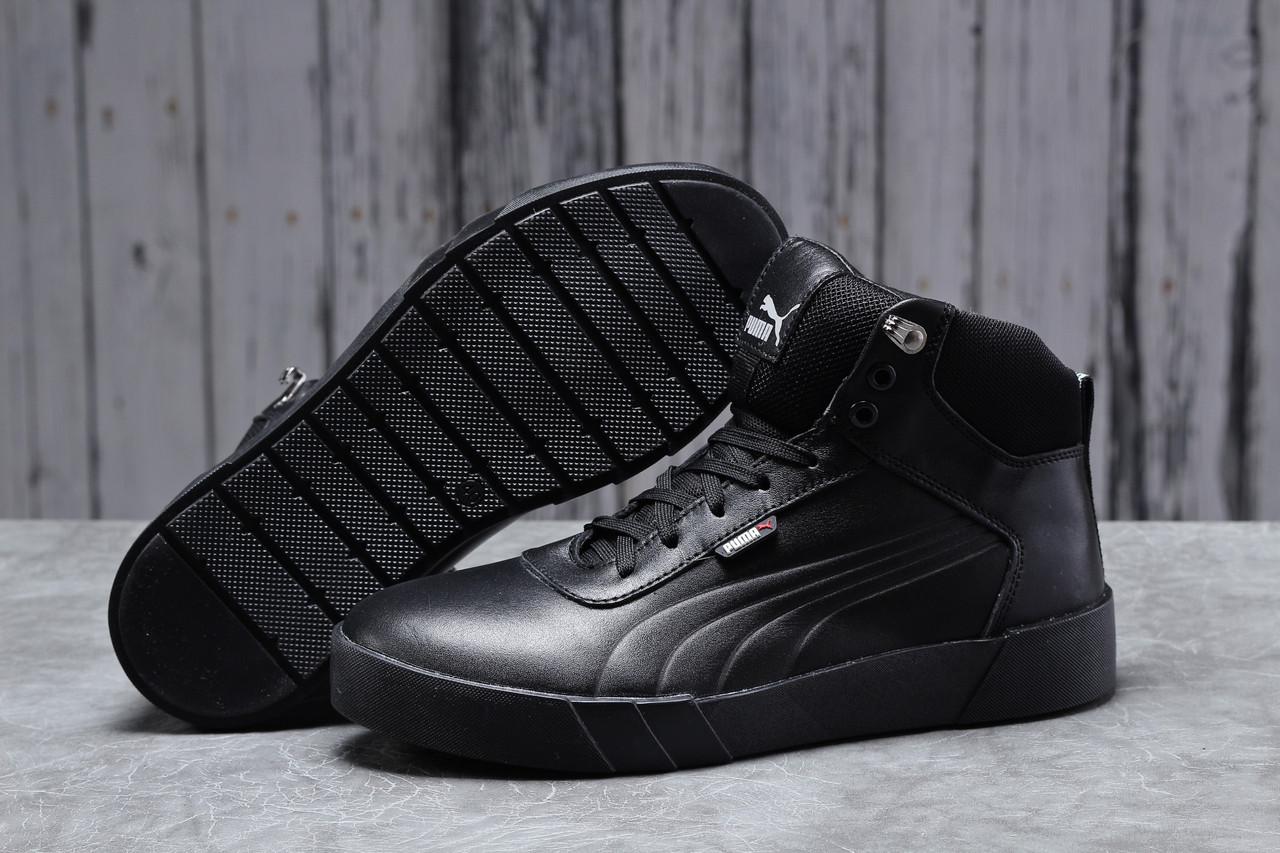 Зимние мужские кроссовки 31691, Puma Desierto Sneaker, черные, [ нет в наличии ] р. 43-28,0см.