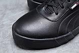 Зимние мужские кроссовки 31691, Puma Desierto Sneaker, черные, [ нет в наличии ] р. 43-28,0см., фото 4
