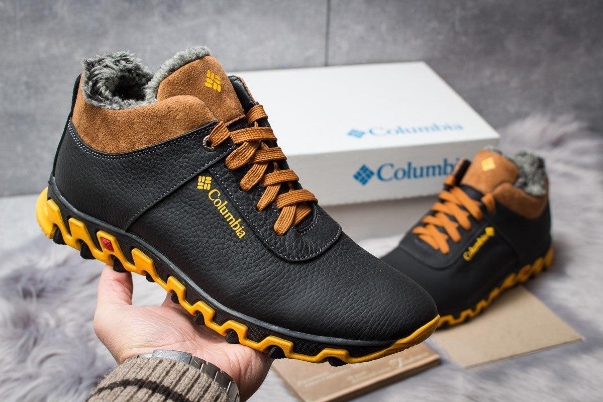 Зимние мужские ботинки 30692, Columbia Track II, черные, [ 40 42 44 ] р. 40-26,6см.