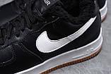 Зимние мужские кроссовки 31733, Nike Air AF1 (мех), черные, [ 41 42 ] р. 41-26,0см., фото 6
