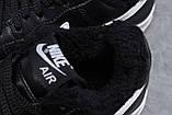 Зимние мужские кроссовки 31733, Nike Air AF1 (мех), черные, [ 41 42 ] р. 41-26,0см., фото 7