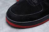 Зимние мужские кроссовки 31734, Nike Air AF1 (мех), черные, [ 42 ] р. 42-26,5см., фото 5