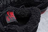 Зимние мужские кроссовки 31734, Nike Air AF1 (мех), черные, [ 42 ] р. 42-26,5см., фото 7