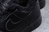 Зимние мужские кроссовки 31735, Nike Air AF1 (мех), черные, [ 41 44 45 ] р. 41-26,0см., фото 6
