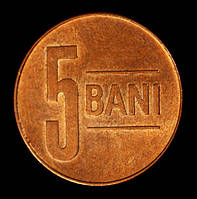 Монета Румынии 5 бани 2016 г., фото 1