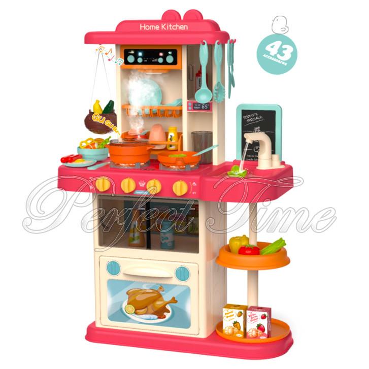 Детская кухня с водой 43 предмета / игровой набор кухня для девочки