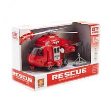"""Інтерактивний інерційний вертоліт """"Рятувальник"""" (червоний) WY760A/B/C/D"""