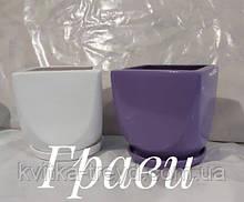 ГРАВИ 2,5 л белый керамический вазон