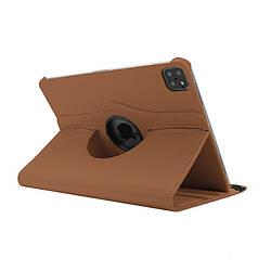 """Кожаный чехол книжка для iPad Pro 12.9"""" (2020) коричневый"""