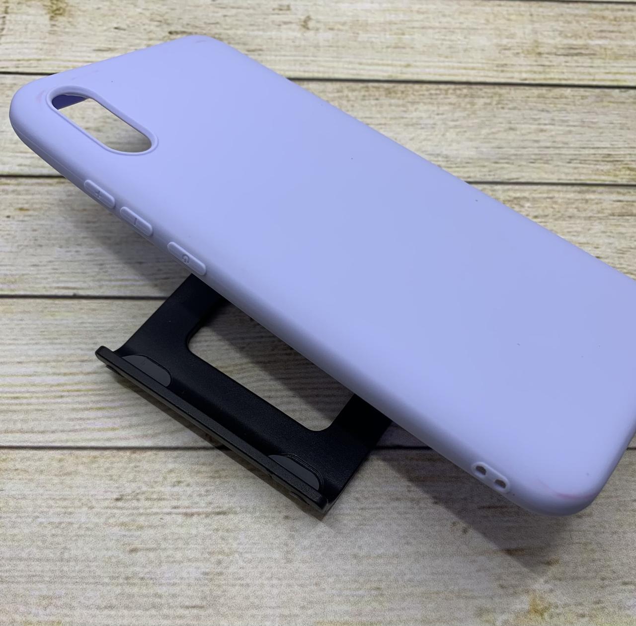 Чехол для Xiaomi Redmi 9A бампер цветной силиконовый матовый небесно-голубой