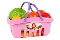 Набор продуктов в корзинке (розовый) 5354