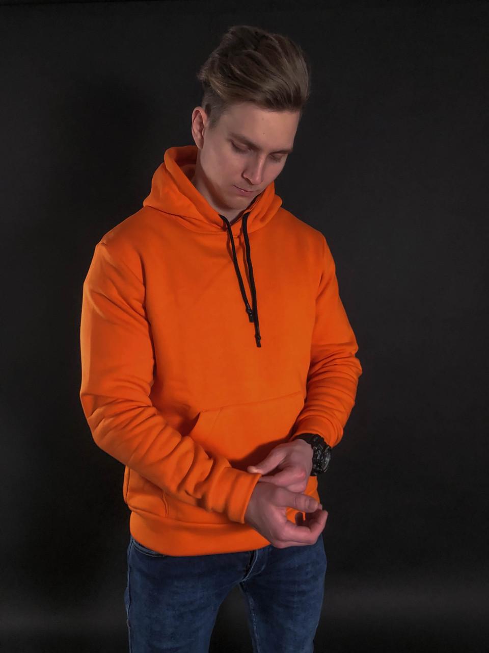 Мужской Худи Mono Orange Флис