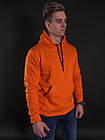 Мужской Худи Mono Orange Флис, фото 5