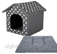 Будка для кімнатного песика 52x46x53 / R3 з подушкою