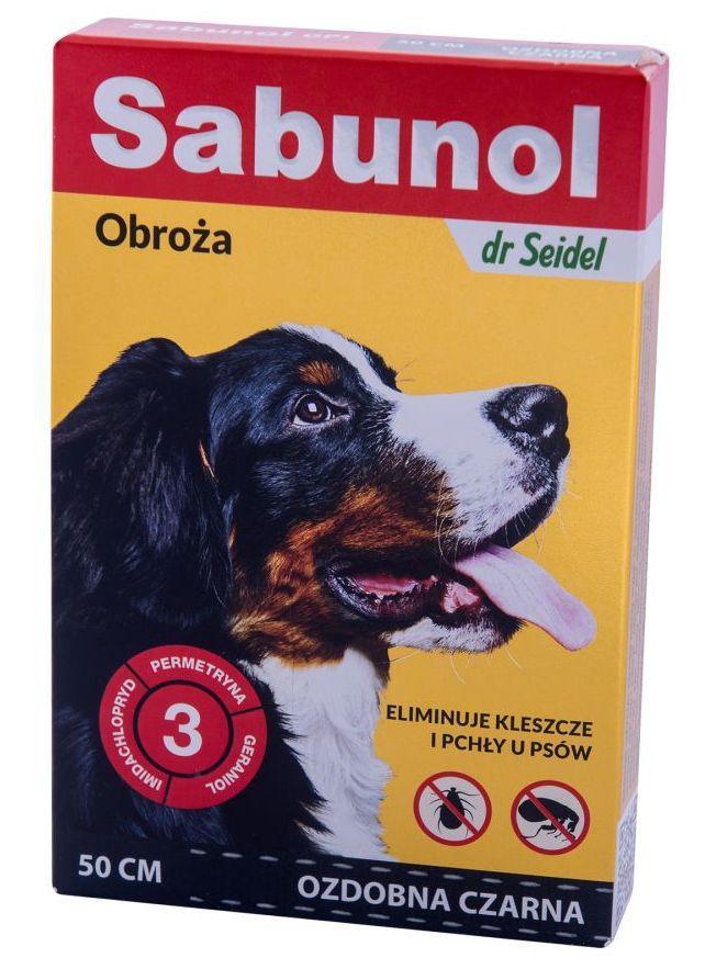 Ошейник САБУНОЛ ГПИ 50 см SABUNOL GPI Dr.Seidel от блох и клещей для собак средних пород