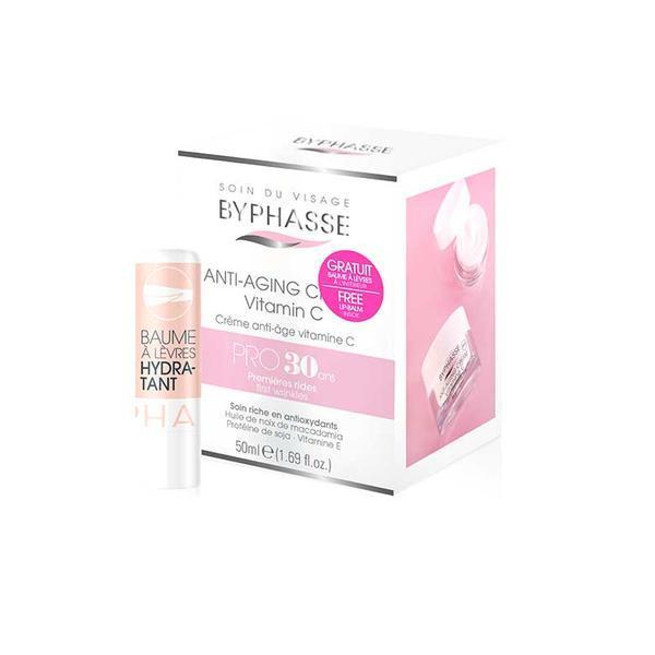 Byphasse Anti-aging Cream Pro30 Years Vitamin C Крем против первых морщин 30+ набор(Бальзам для губ в подарок)