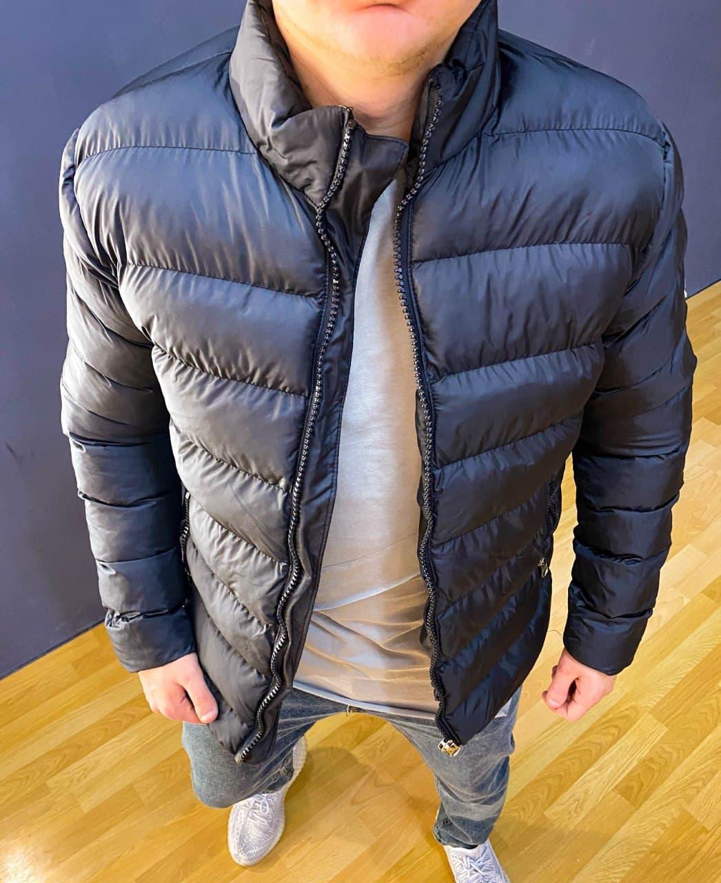 Мужская демисезонная куртка на синтепоне черная