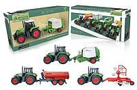 Трактор 809 GHI (18) 3 вида, свет, звук, в коробке