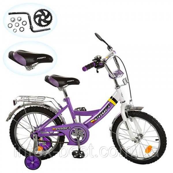 Детский двухколесный велосипед PROFI 16 дюймов (арт.P 1648A), фиолетовый
