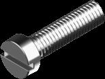 Винт М10х20 с цилиндрической головкой и прямым шлицем, сталь кл. пр. 4.8 БП (DIN 84)