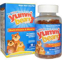 Yummi Bears, мультивитамины и минералы, со вкусом натуральных фруктов, 90 жевательных мишек