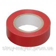 Изолента ПВХ 18 мм х 18 м красная LEBRON