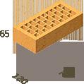 Кирпич клинкерный Керамейя Клинкерам  250x120x65 мм Янтарь Пр1 36%, фото 3