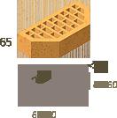 Цегла клінкерна фасонний Керамейя Клінкерам 250x120x65 мм Бурштин 36%, фото 3