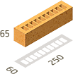 Кирпич клинкерный Керамейя Клинкерам  250x60x65 мм Оникс Пр 1/2 28%, фото 3