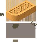 Кирпич клинкерный фасонный Керамейя Клинкерам  250x120x65 мм Жемчуг 36%, фото 4